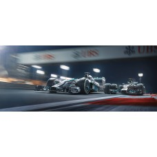 Duel In The Desert - Artwork Lewis Hamilton / Nico Rosberg 1/150