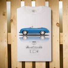 TRIČKO PORSCHE 356 SPEEDSTER  - MADE IN ITALY - ORGANIC