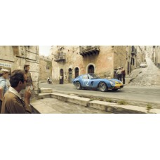 A Swede Swerves Through Sicilians - Artwork Targa Florio, Italy 1/150
