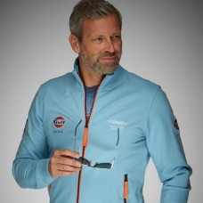 Smart GULF racing men's zip sweatshirt – Light blue