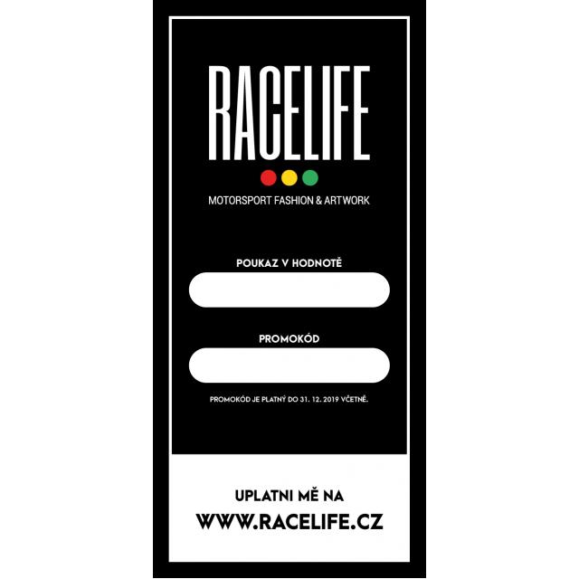 Dárkový poukaz Racelife 5000 Kč