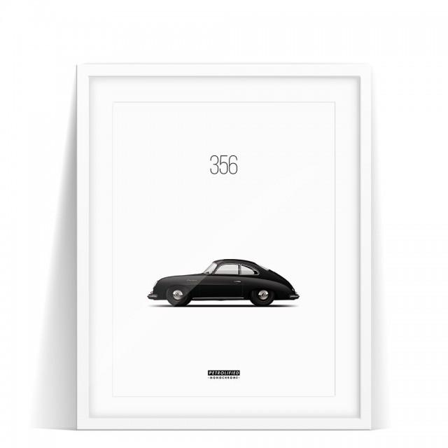 Print Porsche 356 Monochrome