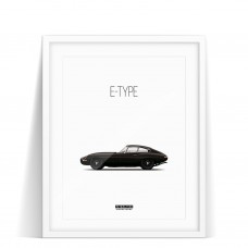 PRINT JAGUAR E-TYPE MONOCHROME