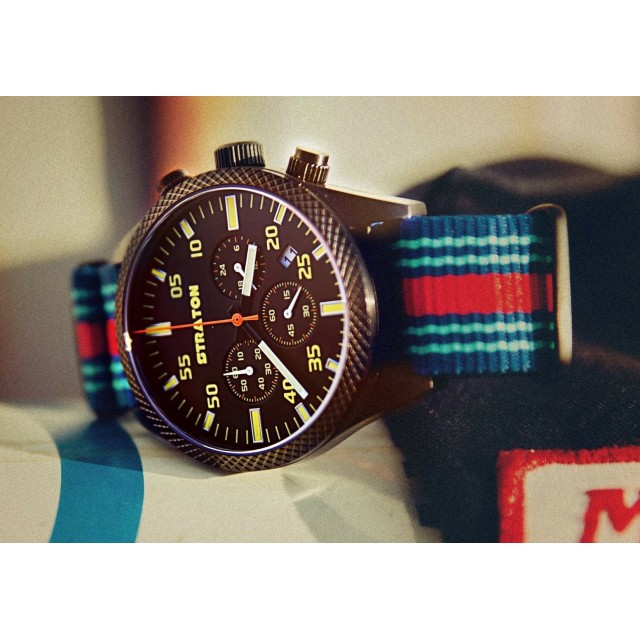 "Vintage Driver Chrono ""Dark Blue"""
