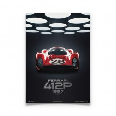 Ferrari 412P Poster  Collector's Edition - 1/100