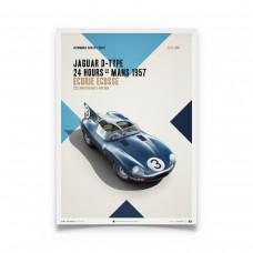 Jaguar D-Type Blue 1957