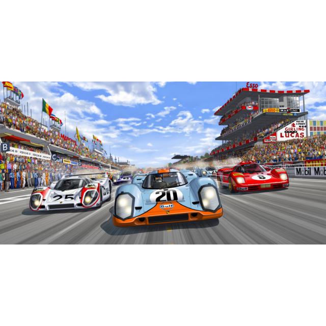 STEVE MCQUEEN - RACE IS ON 60 X 120 - 1/1000