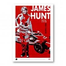 "PLAKÁT  JAMES HUNT ""1976"""