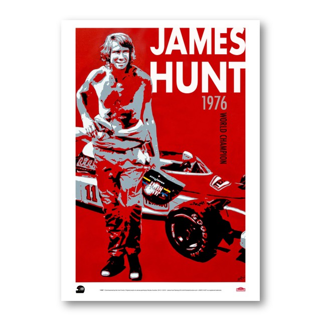 "PLAKÁT  JAMES HUNT ""1976"""
