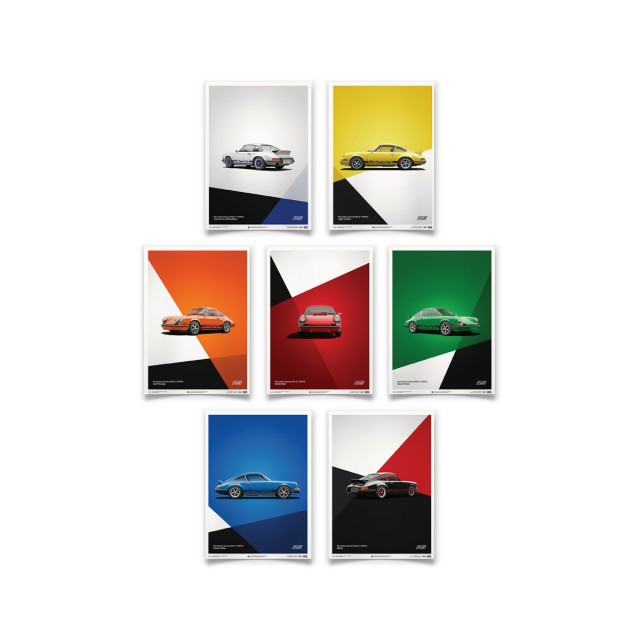 PORSCHE 911 CARRERA RS POSTERS SET